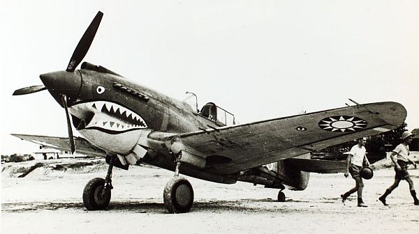Flying Tiger Curtiss P-40C Courtesy San Diego Air and Space Museum Archive.