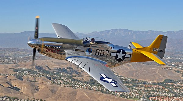 P-51 Mustang, always a crowd-pleaser for heritage flights