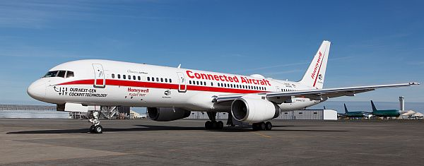 The B757 flight test aircraft. Courtesy Honeywell Aerospace.