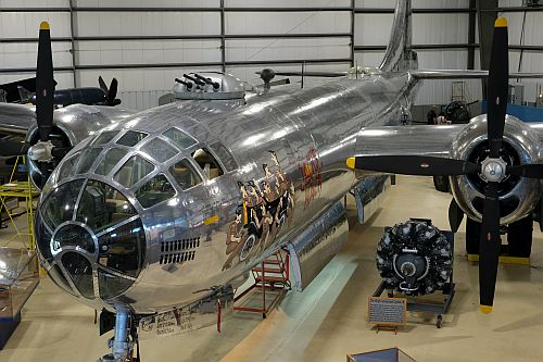 The B-29 Hangar at the New England Air Museum. Photo by Max Flight.