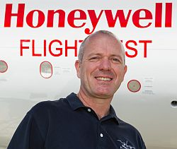 Joe Duval, chief test pilot for Honeywell Aerospace.