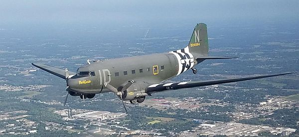 Placid Lassie will join up with other aircraft of the D-Day Squadron in June 2019 to celebrate the 75th Anniversary of the D-Day Invasion. Courtesy D-Day Squadron.