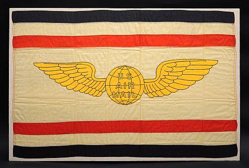 Postal Service airmail flag.