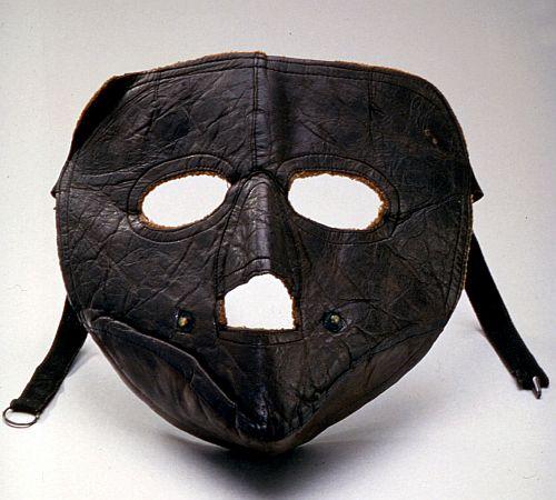 Airmail pilot Eddie Gardner's facemask.