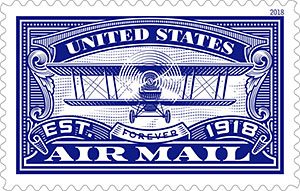 USPS airmail commemorative stamp