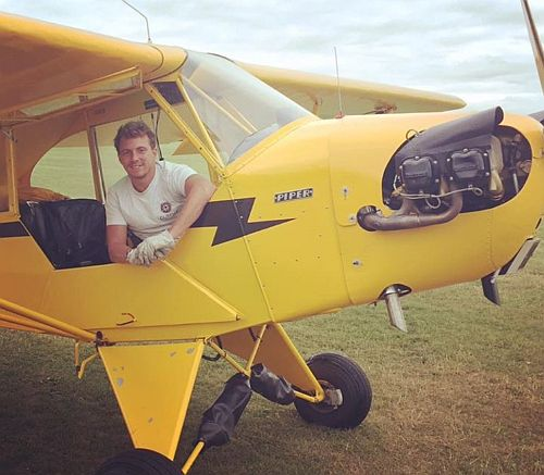 Arthur Williams with his treasured Piper Cub (Copyright Arthur Williams)