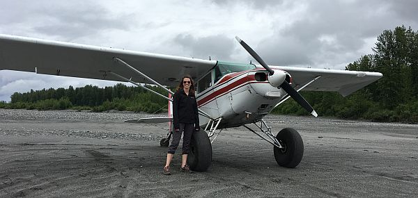 Kelly Keller flying in Alaska.