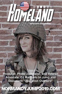 CJ Machado on the cover of Homeland Magazine promoting Normandy Jump 2019.