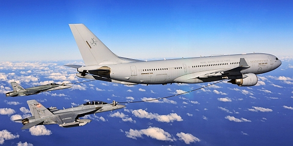 Airbus A330 MRTT aerial tanker.