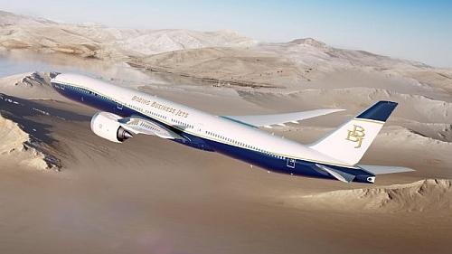 Boeing BBJ-777X computer rendering © Boeing.