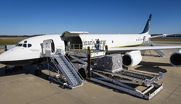 Samaritans Purse DC-8 for emergency relief.