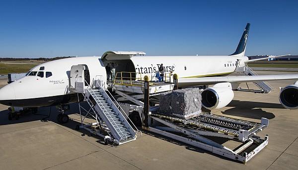 Samaritans Purse DC-8 for emergency relief.