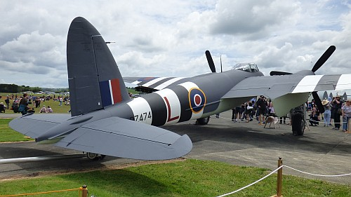 de Havilland Mosquito at the Warbirds Open Day at Ardmore, on the 18th of November 2018.