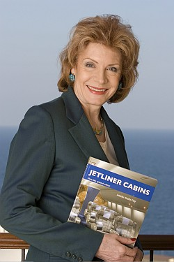 Jennifer Coutts Clay, author of Jetliner Cabins detailing airline cabins