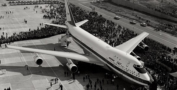 Boeing 747 ceremony.