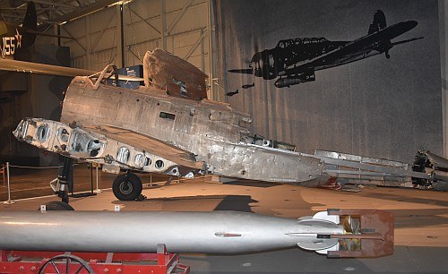 "Nakajima B5N, Type 97 Bomber (the ""Kate"") at the Pearl Harbor Aviation Museum."