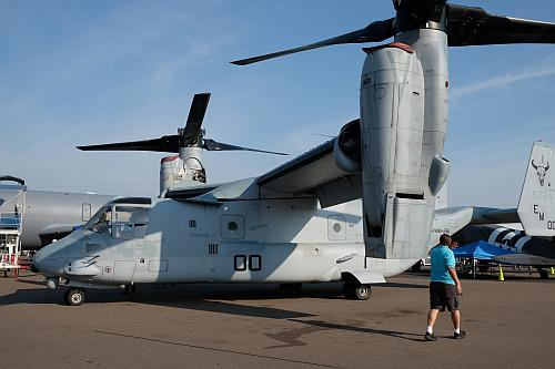 The V-22 Osprey at Sun 'n Fun 2019. Photo by Max Flight.