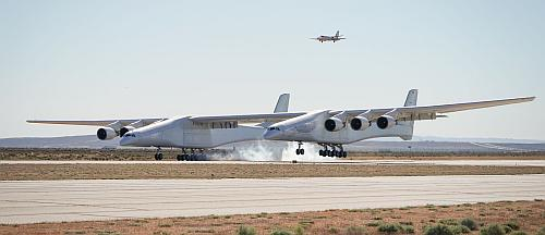 Stratolaunch first flight. Photo courtesy Stratolaunch Systems Corporation.