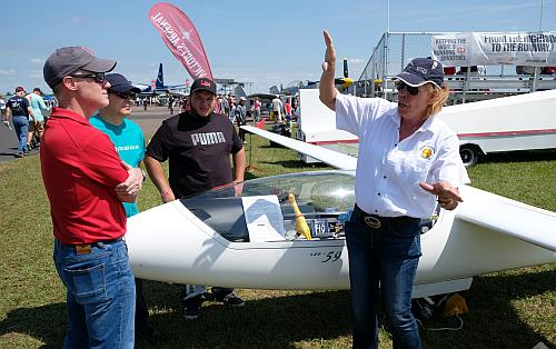 Glider pilot and competitor Laura Radigan.