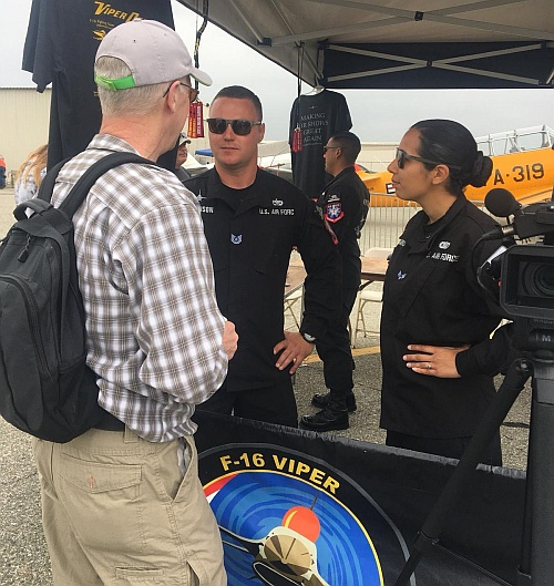 Brian speaks with the F-16 Demonstration Team.