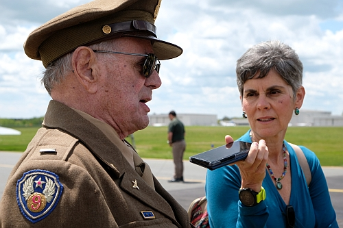Lt Col David Hamilton and Christine Negroni.