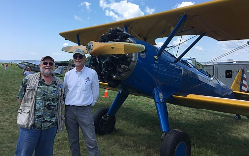 Micah and Kevin with the Stearman.