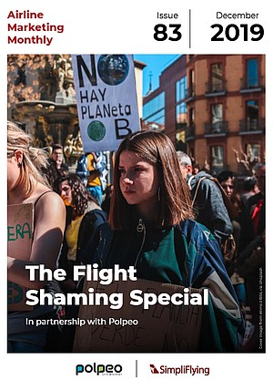 Flight shaming special issue of Airline Marketing Monthly.