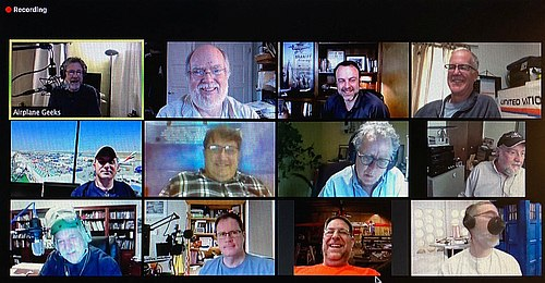 Just a few of the participants in our Episode 600 Zoom meeting.