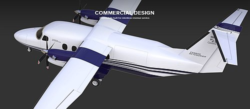 Cessna SkyCourier passenger configuration, courtesy Cessna.